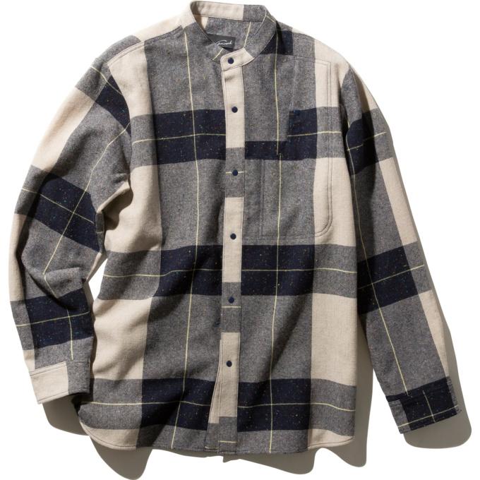 gwmaverick バンドカラーシャツ