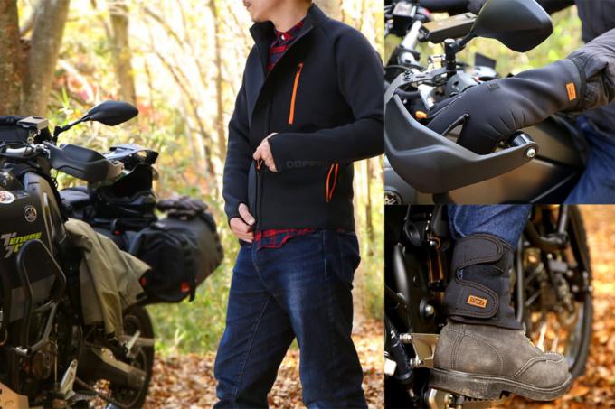 DOPPELGANGER ウェットスーツ素材の防寒アイテム3種