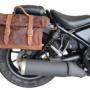 ヘリテージサドルバッグ CLICK-ONロールトップ9.5ℓ装着イメージ