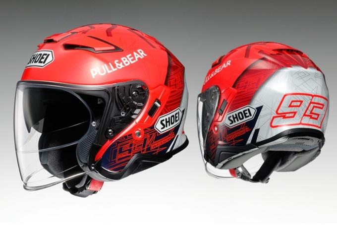 """SHOEI マルケスレプリカのオープンフェイスヘルメット """"J-CruiseⅡ MARQUEZ 6"""""""