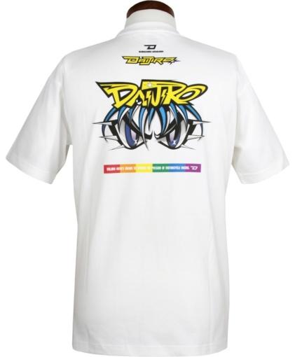 """シンイチロウアラカワと「74 DAIJIRO デルタエンタープライズ」とのコラボレーションTシャツ""""74 RAINBOW T-SHIRTS""""バック"""