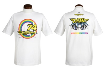 """シンイチロウアラカワからあの伝説のレーサーを描いた""""74 RAINBOW T-SHIRTS""""が登場!"""