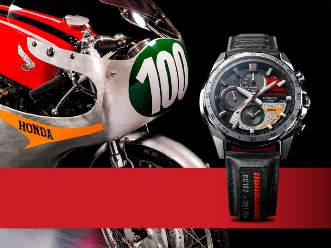 EDIFICE×Honda Racingのコラボ「CASIO EDIFICE EQW-A2000HR」イメージ