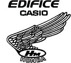 EDIFICE×Honda Racingのコラボ「CASIO EDIFICE EQW-A2000HR」ロゴ