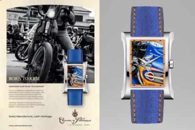 世界100本限定、ヴィンテージハーレーが描かれた「クエルボ・イ・ソブリノス」新作腕時計発売