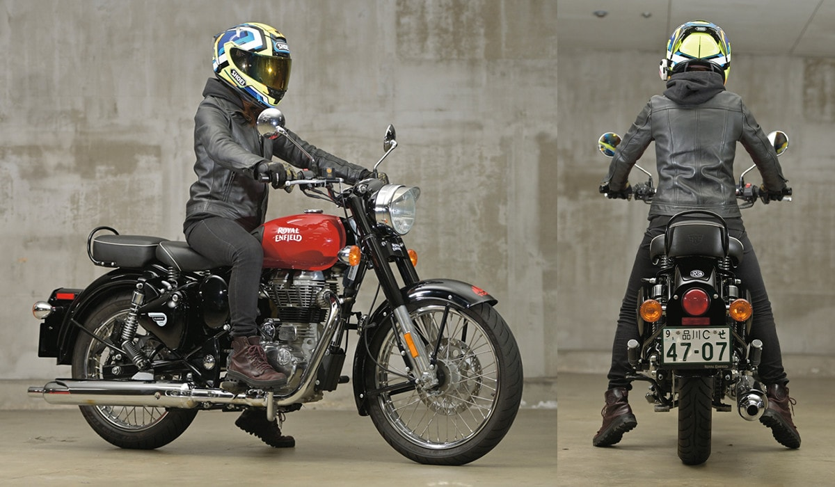 ROYAL ENFIELD CLASSIC500 足つき