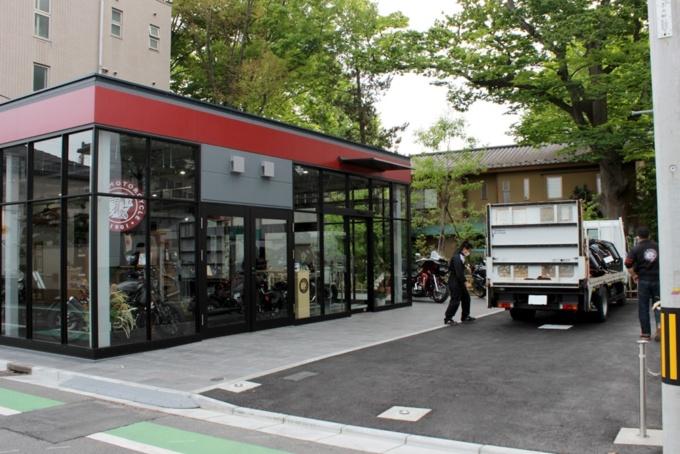 インディアンモーターサイクル埼玉 駐車スペース