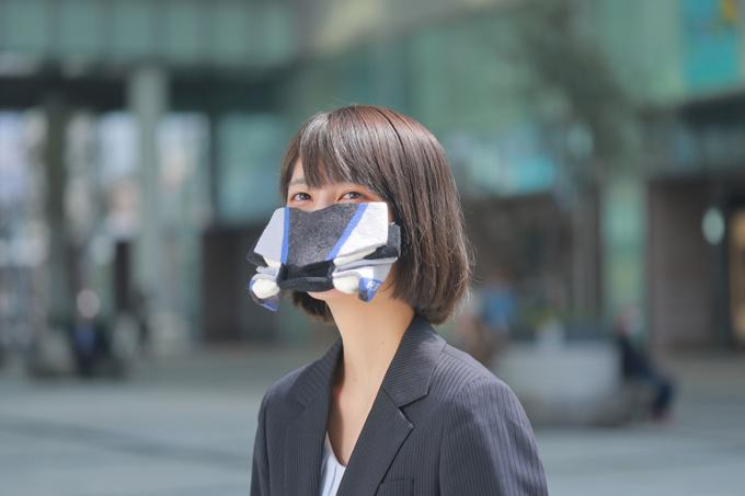 YZF-R1M羊毛フェルトマスク装着画像