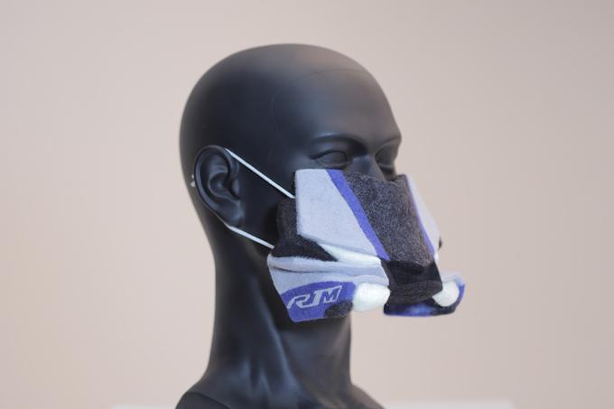 YZF-R1M羊毛フェルトマスク製品画像